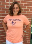 Mens size M Peach Motivation T Shirt